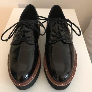 Patent Leather Platform Oxfords